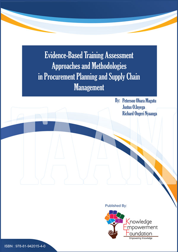 Evidence-Based Training Assessment Approaches and Methodologies in Procurement Planning and Supply Chain Management